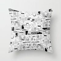 scandal Throw Pillows featuring Scandal Pattern by CLSNYC