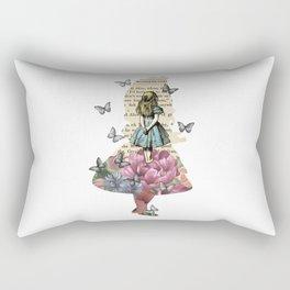 Alice In Wonderland Magical Garden - Vintage Book Rectangular Pillow