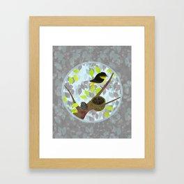 Nesting Goldfinches Framed Art Print
