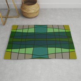 Green Pattern Turtle Rug