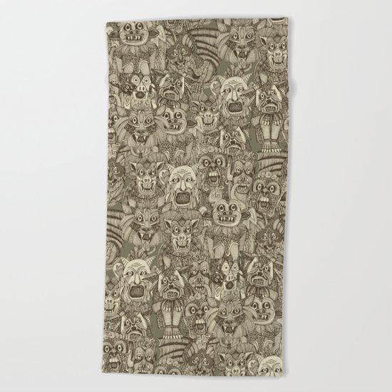 gargoyles vintage Beach Towel