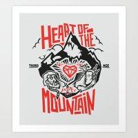 Heart of the Mountain Art Print