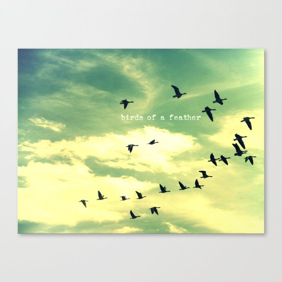 Birds of a Feather Canvas Print