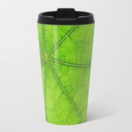 Green Leaf Veins 03 Travel Mug