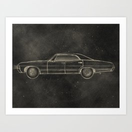 Supernatural: Impala Art Print