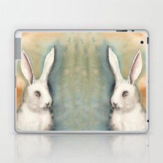 Portrait of a White Rabbit Laptop & iPad Skin