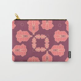 Mauve Geo Flourish Carry-All Pouch