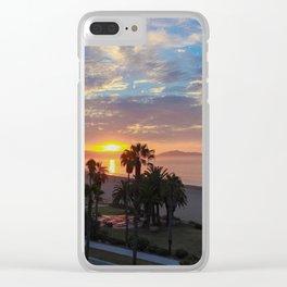 Big Blue Sunrise in Santa Barbara Clear iPhone Case
