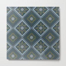 Blue Tile #2 Smaller Scale Metal Print