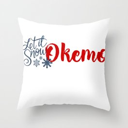 Snow in Okemo Throw Pillow