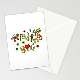 Missing You Text Expression Stationery Cards