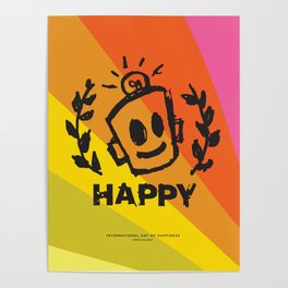 International Day of HAPPINESS Poster