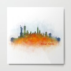 New York City Skyline Hq V03 Metal Print