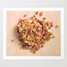 I Heart Pasta Art Print