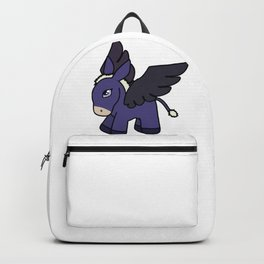 Purple Flying Pony Drawing Backpack