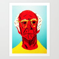 larry david Art Prints featuring Larry David 4 by Alyssa Underwood Contemporary Art