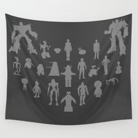 robots Wall Tapestries featuring Robots - Various by Geek Bias