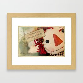 """Raggedy Ann - """"Oh the Possibilities!"""" Framed Art Print"""