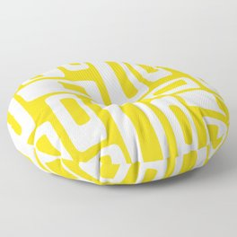 Retro Mid Century Modern Abstract Pattern 335 Yellow Floor Pillow