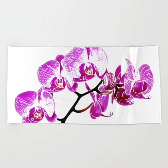 Orchidea Beach Towel
