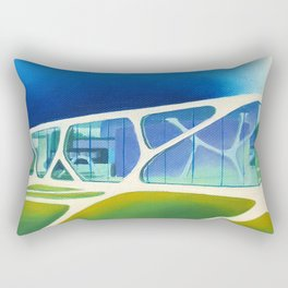 Glass Cube. Rectangular Pillow