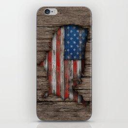 American Wood Flag iPhone Skin