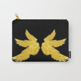 Golden Archangel Wings Carry-All Pouch
