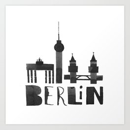 Berlin (Calligraphy Art) Art Print