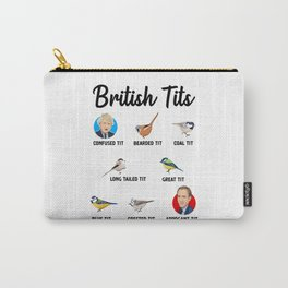 2021 British Tit Birds Funny Gift UK Politics Carry-All Pouch
