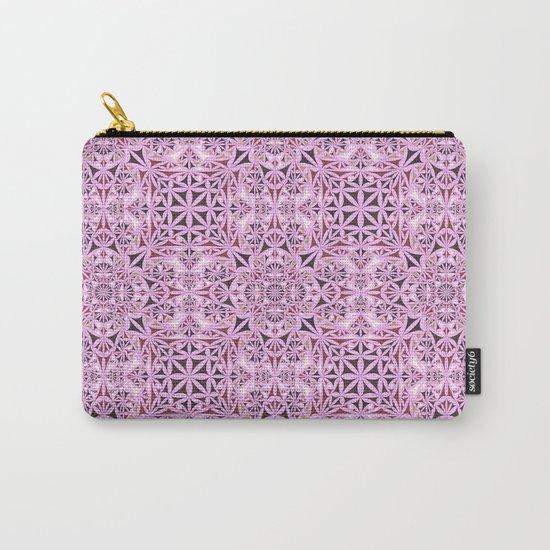 Pink kaleidoscope wallpaper Carry-All Pouch