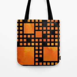 Visopolis V1 - orange flames Tote Bag