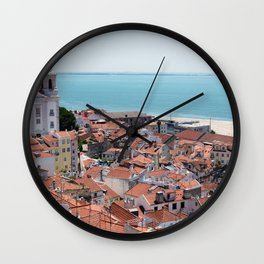 Lisbon View Wall Clock