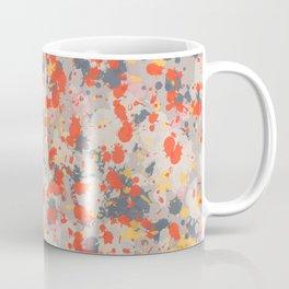 Orange Gray Ink Splatter Coffee Mug