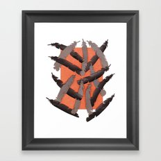 Leather Feathers Framed Art Print