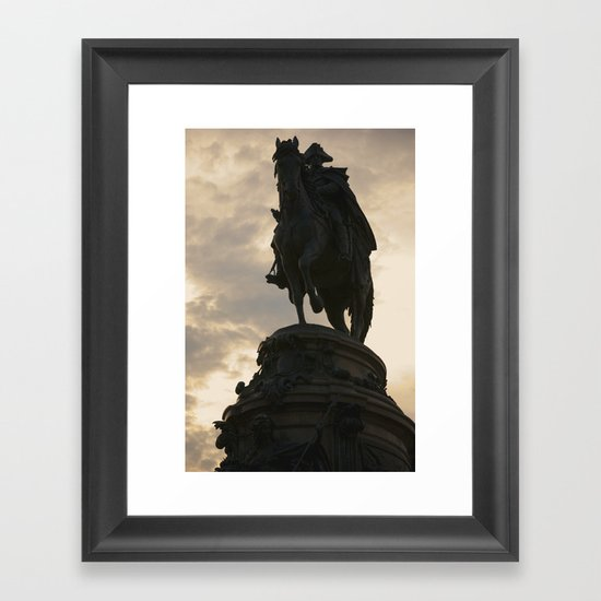 Wasington Monument Framed Art Print