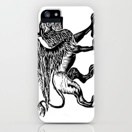 Gryphon-Black iPhone Case