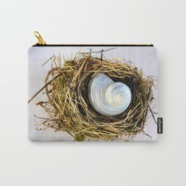 BIRD NEST AND WHITE SEASHELL Carry-All Pouch