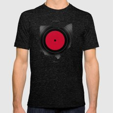 OHIO 33⅓ rpm LP Record Tri-Black X-LARGE Mens Fitted Tee