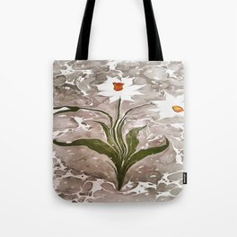Narcissus On Marble Tote Bag
