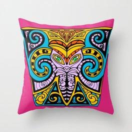 King Squid Pink Throw Pillow
