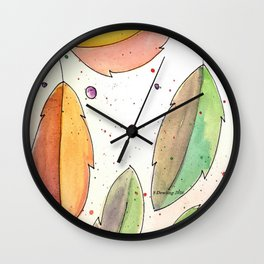 All Leaves Wall Clock