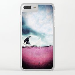 it could be raining Clear iPhone Case