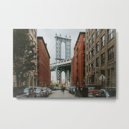 Manhattan Bridge Dumbo Metal Print