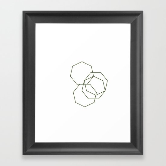 #313 Stone shadows – Geometry Daily Framed Art Print
