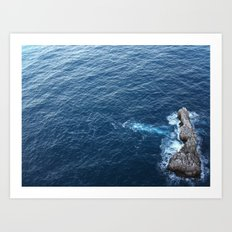 Rock In The Sea Art Print