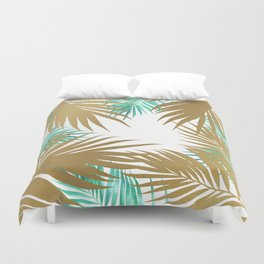 Golden Paradise Beach Pattern Duvet Cover