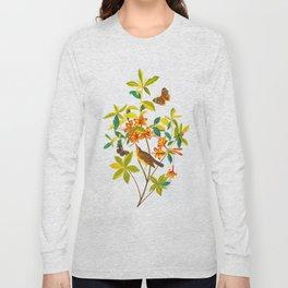 Vintage Floral Illustration Long Sleeve T-shirt