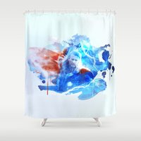 thor Shower Curtains featuring Thor by Rose's Creation