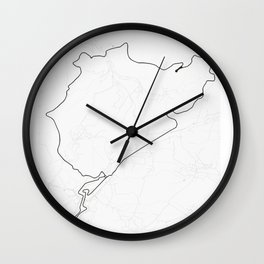 Nürburgring Nordschleife and GP Track Circuit Map Wall Clock