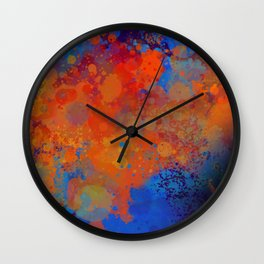 Blue Invasion  Wall Clock